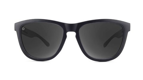 Sunglasses with Matte Black Frame and Black Smoke Lenses, Pouch