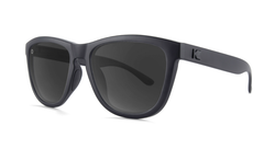 Sunglasses with Matte Black Frame and Black Smoke Lenses, Threequarter