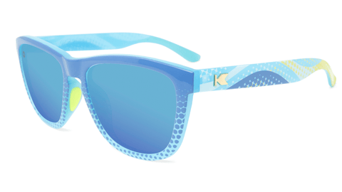 Sunglasses with Coastal Frames and Polarized Aqua Lenses, Flyover