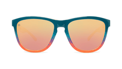 Sunglasses with Speckled Sunset Frames and Polarized Rose Gold Lenses. Front