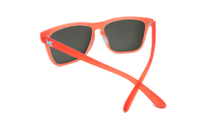Sport Sunglasses with Fruit Punch Red Frames and Polarized Aqua Lenses, Back