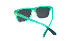 Sport Sunglasses with Green Frames and Polarized Green Moonshine Lenses, Back