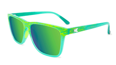 Sport Sunglasses with Green Frames and Polarized Green Moonshine Lenses, Flyover