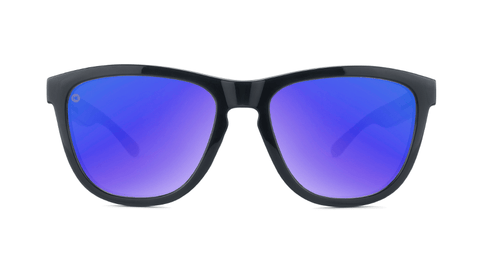 Sport Sunglasses with Jelly Black Frame and Polarized Blue Moonshine Lenses, Back
