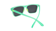 Sunglasses with Jelly Melone Frames and Polarized Yellow Lenses, Back