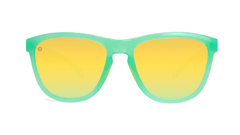 Sunglasses with Jelly Melone Frames and Polarized Yellow Lenses, Front