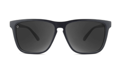 Sport Sunglasses with Matte Black Frame and Polarized Black Smoke Lenses, Front