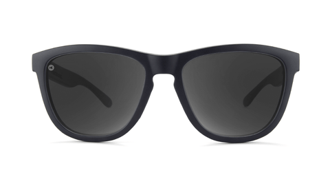 Sport Sunglasses with Matte Black Frame and Polarized Black Smoke Lenses, Back