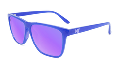 Sport Sunglasses with Neptune Blue Frame and Polarized Lilac Lenses, Flyover