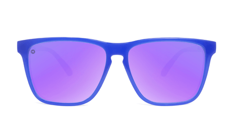 Sport Sunglasses with Neptune Blue Frame and Polarized Lilac Lenses, Back