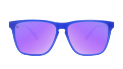 Sport Sunglasses with Neptune Blue Frame and Polarized Lilac Lenses, Front
