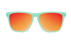 Sport Sunglasses with Spearmint Frame and Polarized Red Sunset Lenses, Front