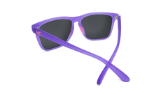 Sunglasses with Rubberized Ultraviolet Frames and Polarized Fuchsia Lenses, Back