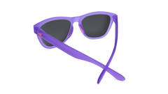 Sunglasses with Rubberized Ultraviolet Frames and Polarized Fuchsia Lenses, BackSunglasses with Rubberized Ultraviolet Frames and Polarized Fuchsia Lenses, Back