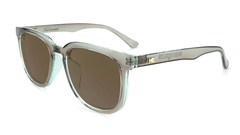 Sunglasses with Aged Sage Frame and Polarized Amber Lenses, Flyover