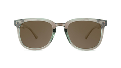 Sunglasses with Aged Sage Frame and Polarized Amber Lenses, Front