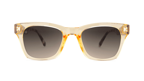 Sunglasses with Beverly Peach Frames and Amber Gradient Lenses, Back