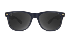 Fort Knocks Sunglasses with Matte Black Frames and Black Smoke Lenses, Front