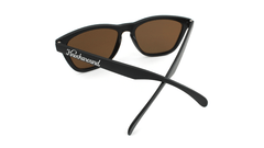 Classics Sunglasses with Black Frames and Gold Lenses, Back