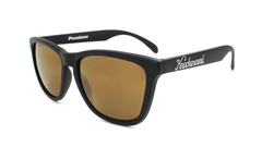 Classics Sunglasses with Black Frames and Gold Lenses, Flyover