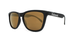 Classics Sunglasses with Black Frames and Gold Lenses, ThreeQuarter