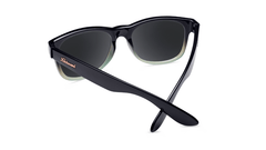 Sunlgasses with Black Mist Frames and Polarized Smoke Lenses, Back