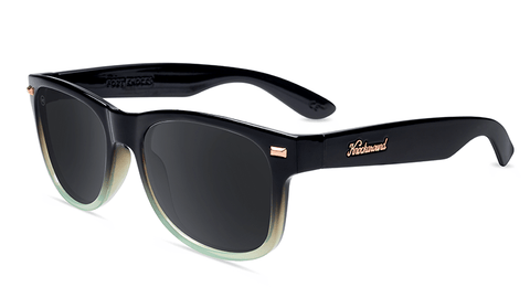 Sunlgasses with Black Mist Frames and Polarized Smoke Lenses, Flyover