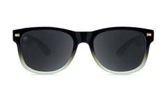 Sunlgasses with Black Mist Frames and Polarized Smoke Lenses, Front