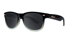Sunlgasses with Black Mist Frames and Polarized Smoke Lenses, Threequarter