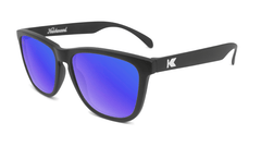 Sunglasses with Black Frame and Polarized Blue Moonshine Lenses, Flyover