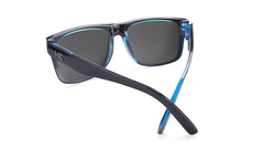 Sunglasses with Black Ocean Geode Frame and Polarized Black Smoke Lenses, Back