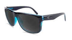 Sunglasses with Black Ocean Geode Frame and Polarized Black Smoke Lenses, Flyover