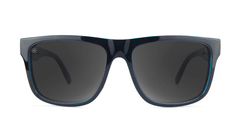 Sunglasses with Black Ocean Geode Frame and Polarized Black Smoke Lenses, Front