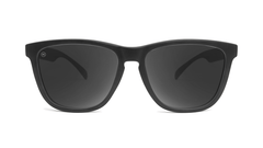 Sunglasses with Black Frame and Polarized Black Smoke Lenses, Front