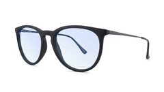 Matte Black on Black / Blue Light Blockers Mary Janes