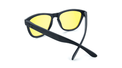 Sunglasses with Black on Black Frame and Blue Light Blocker Lenses, Back