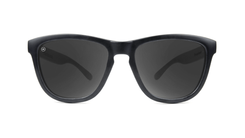 Premiums Sunglasses with Black Frames and Black Smoke Lenses, Back