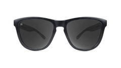 Premiums Sunglasses with Black Frames and Black Smoke Lenses, Front