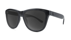 Premiums Sunglasses with Black Frames and Black Smoke Lenses, Three Quarter