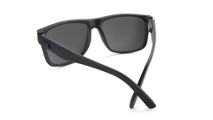 Sunglasses with Matte Black Frames and Polarized Sky Blue Lenses, Back