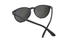 Sunglasses with Matte Black Frame and Polarized Smoke Lenses, Back