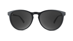 Sunglasses with Matte Black Frame and Polarized Smoke Lenses, Front