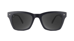 Sunglasses with Matte Black on Black Frames and Polarized Smoke Lenses, Front