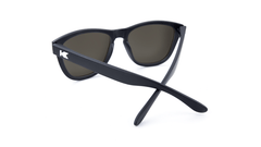 Premiums Sunglasses with Matte Black Frames and Yellow Sunset Mirrored Lenses, Back