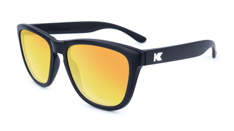 634f8095a2c Premiums Sunglasses with Matte Black Frames and Yellow Sunset Mirrored  Lenses
