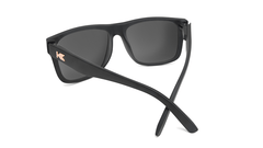 Sunglasses with Matte Black Frames and Polarized Rose Gold Lenses, Back