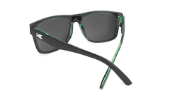 Sunglasses with Glossy Black Sage Frames and Polarized Black Smoke Lenses, Back
