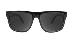 Sunglasses with Glossy Black Sage Frames and Polarized Black Smoke Lenses, Front