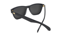 Deluxe Sunglasses with Glossy Black Frame and Polarized Black Smoke Lenses, Back