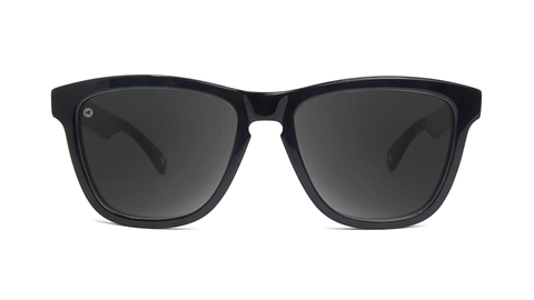 Deluxe Sunglasses with Glossy Black Frame and Polarized Black Smoke Lenses, Model